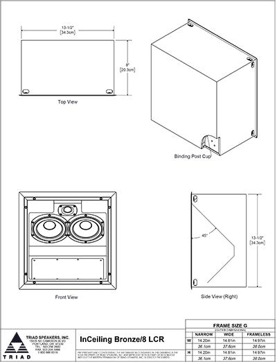 Triad Speaker In Ceiling Bronze 8 Lcr Aoe Your Audio